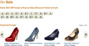 Amazon 25% off sale pumps