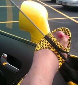 Santana Yellow Tropicana Shoe